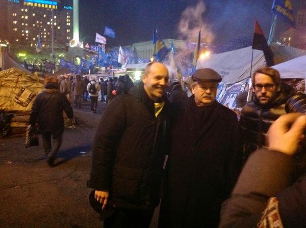 Brok und Parubij auf dem Maidan