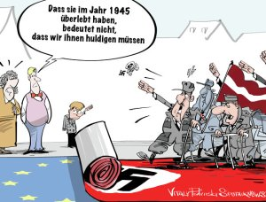 Deutsche Politik: immer mit den alten Nazi SS Schwadronen: von Albanien bis zur Ukraine