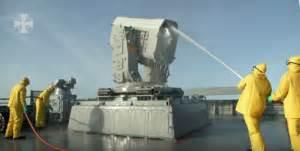Technischer Schrott das neueste Modell der Raketen Werfer Die RIM-116 RAM (Rolling Airframe Missile<) US Schrott