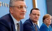 3 Verbrecher verkünden die nächste Lüge und mit vollem Wissen: RKI Chef Wieler, Jens Spahn, Angela Merkel